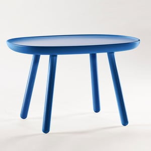 Niebieski stolik z litego drewna EMKO Naïve Medium