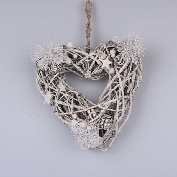 Drewniane serce wiszące Dakls
