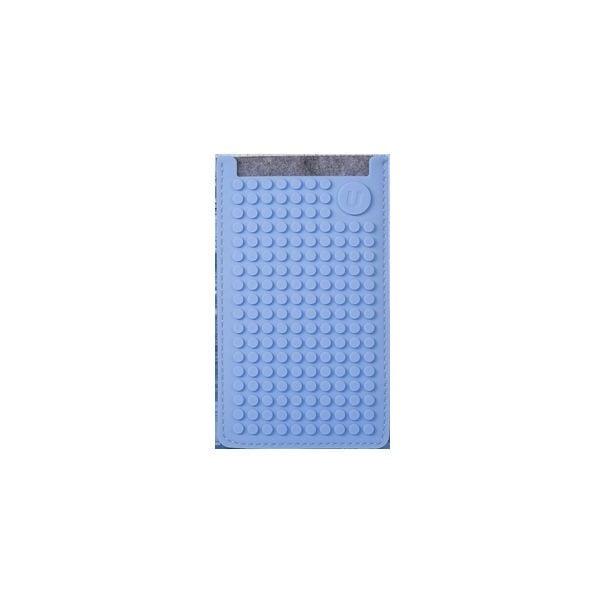Pikselowe etui na telefon PixelArt, małe, szare/niebieskie