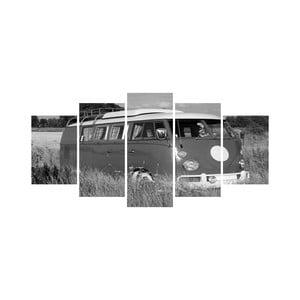 Wieloczęściowy obraz Black&White no. 38, 100x50 cm