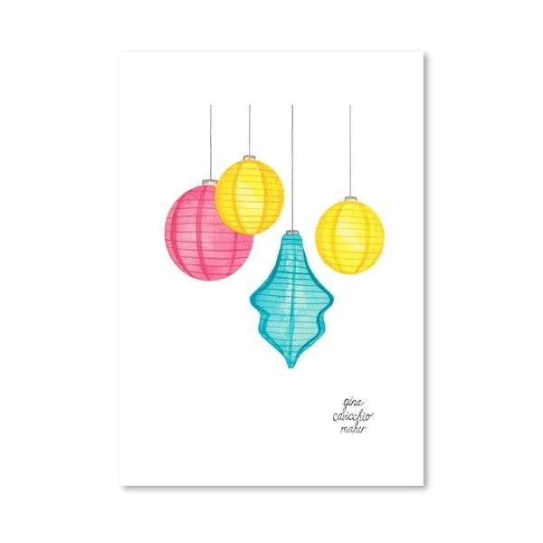 Autorski plakat Paper Lanterns, 30x42 m