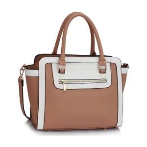 Biało-brązowa torebka L&S Bags Trianon