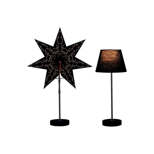 Świecąca   lampa i gwiazda, komplet Best Season Black