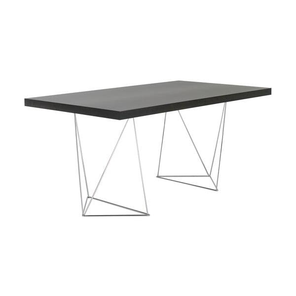 Biurko/stół do jadalni Trestle, długość 160 cm, w kolorze drewna wenge