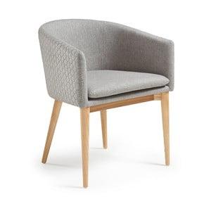 Szare krzesło La Forma Harmon