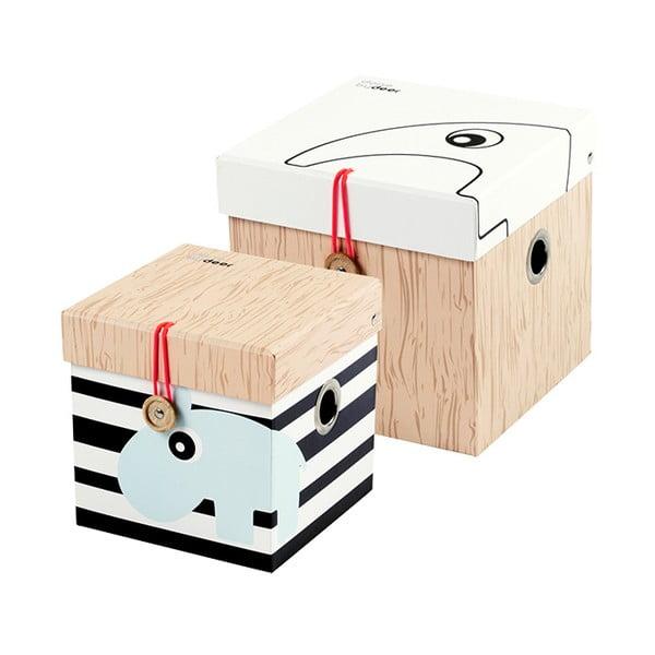 Zestaw 2 pudełek Deer, rozmiar S