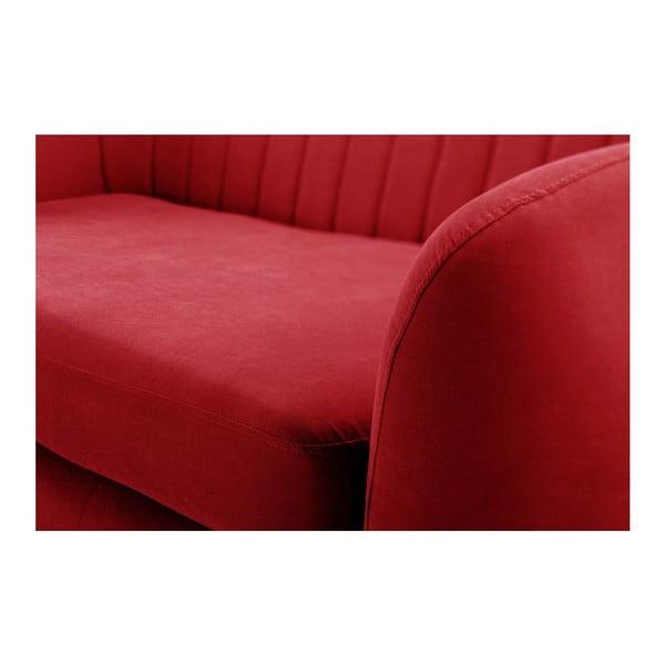 Czerwony 3-osobowy narożnik prawostronny Scandi by Stella Cadente Maison