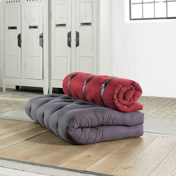 Sofa rozkładana Karup Buckle Up Gray/Bordeaux