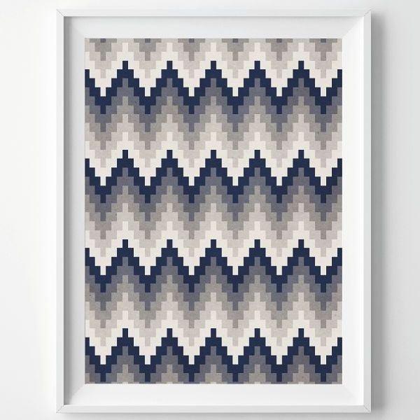Plakat Aztec Grey, A3