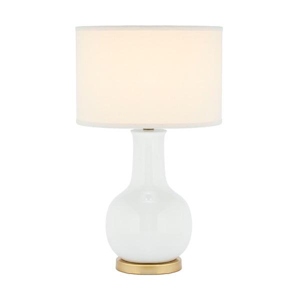 Lampa stołowa z białą podstawą Safavieh Charlie