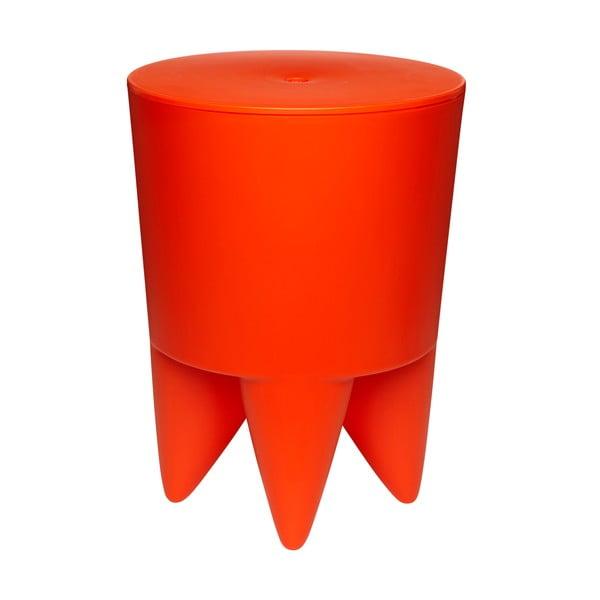 Stolik, schowek i cooler do butelek w jednym Bubu, pomarańczowy
