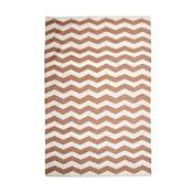 Bawełniany dywan Chevron Ivory/Beige, 160x230 cm