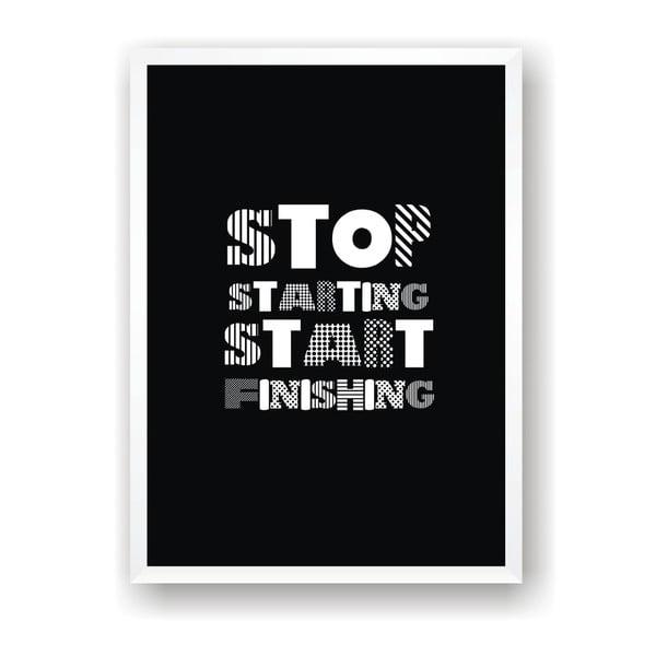 Plakat Nord & Co Start Finishing, 40x50 cm