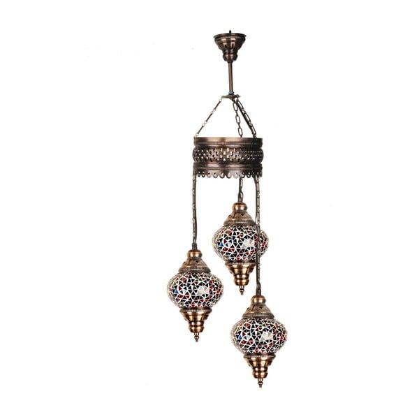 Szklana lampa wisząca Three XII, 13 cm