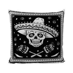 Poduszka Black Shake Sugar Skull, 50x50 cm