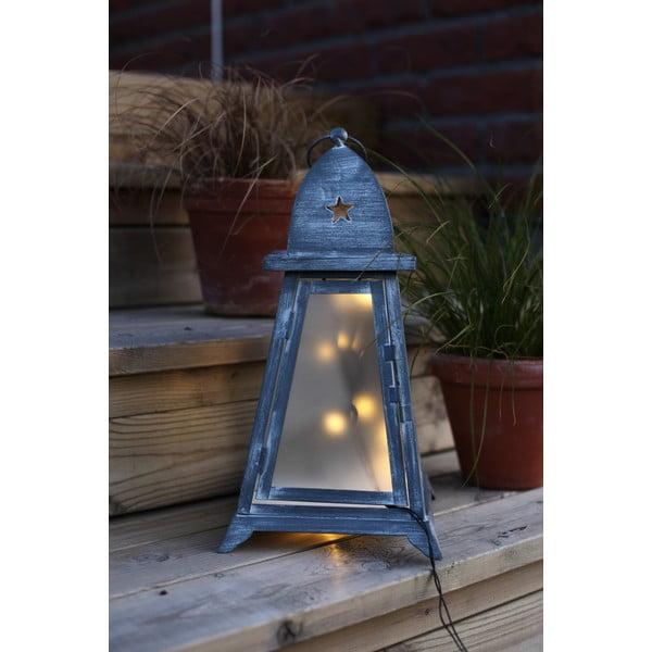 Szary lampion LED Best Season Fyris 38 cm