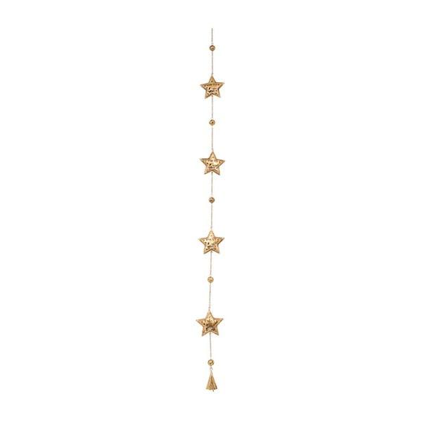 Dekoracja wisząca Archipelago Star Xmas Gold Garland, 115 cm