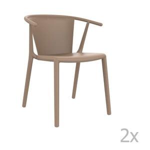 Zestaw 2 beżowych krzeseł ogrodowych Resol steely