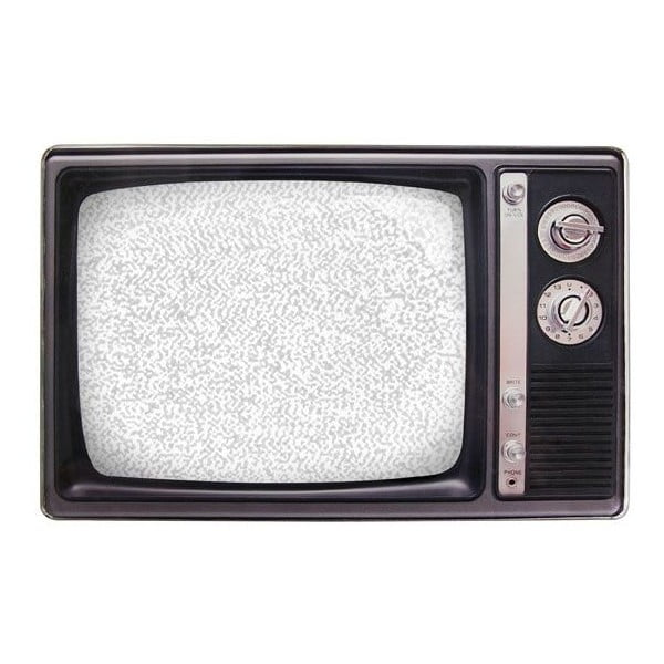 Ramka na zdjęcie Retro TV, czarna