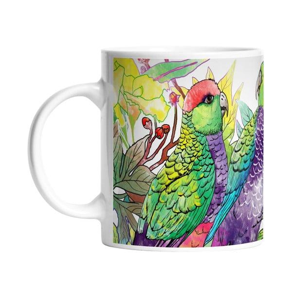 Kubek ceramiczny Parrot Talking, 330 ml