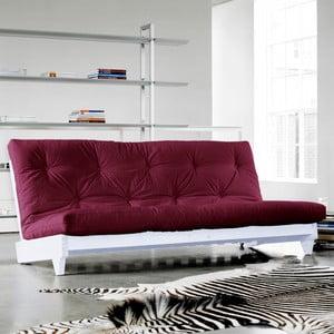 Sofa rozkładana Karup Fresh White/Bordeaux