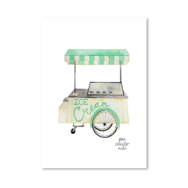 Autorski plakat Icecream Cart, 30x42 m