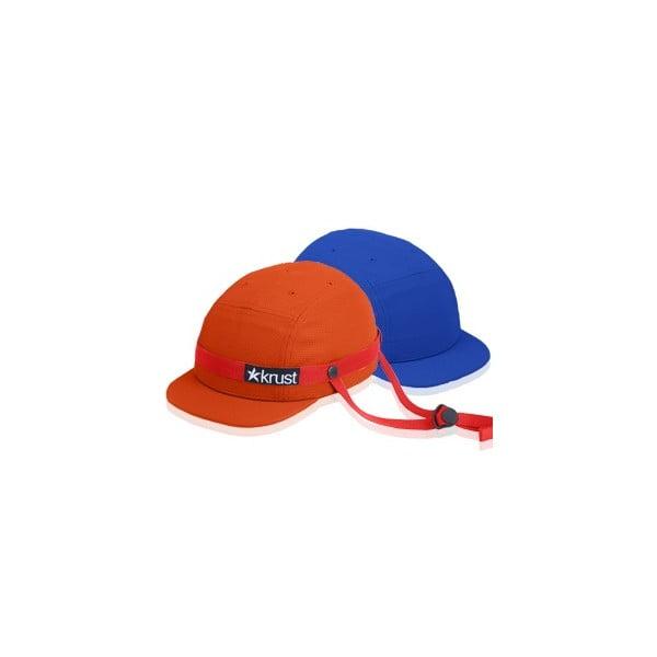 Kask rowerowy Krust orange/red/blue z zapasową czapką, rozmiar M/L