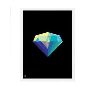 Plakat Diamond Black, 50x70 cm