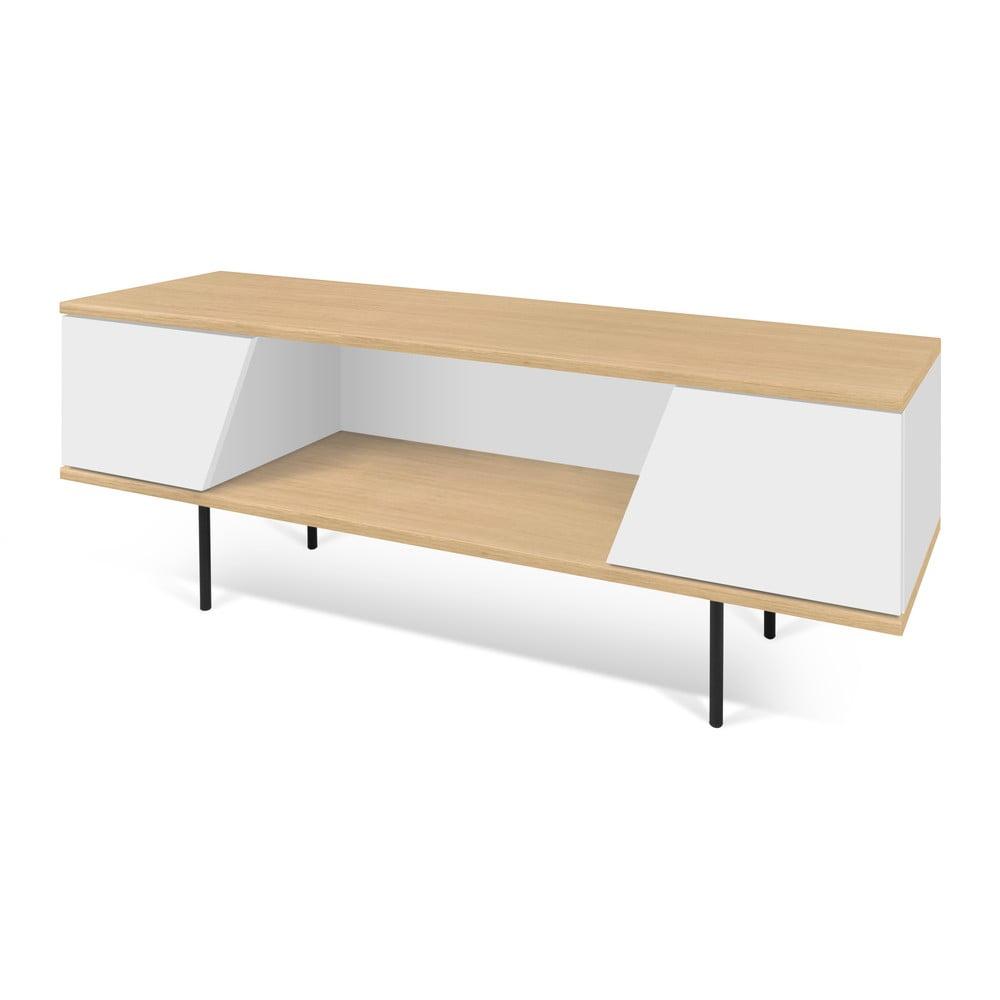 Biało-brązowa szafka pod TV TemaHome Dixie, 140x51 cm