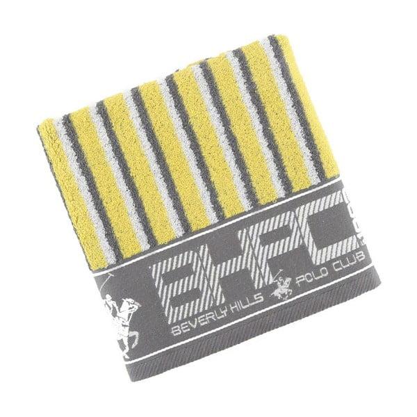 Ręcznik bawełniany BHPC 50x100 cm, szaro-żółty