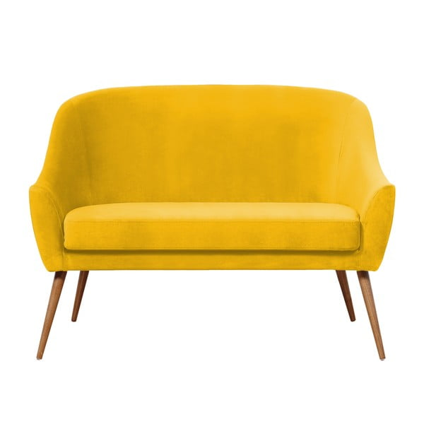 Żółta sofa Hawke&Thorn Herman