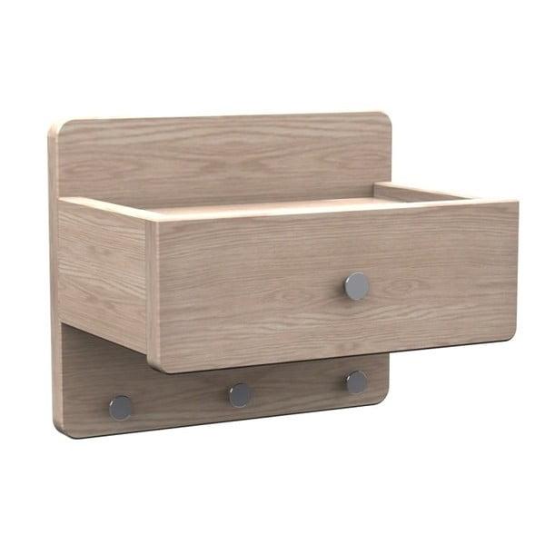 Półka z   pobielanego drewna dębowego Folke Tram