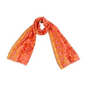 Chusta  z domieszką jedwabiu Shirin Sehan - Bella Apricot