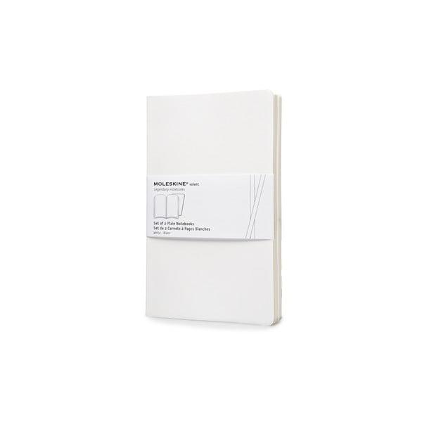 Zestaw 2 notesów  Moleskine White, czyste 13x21 cm