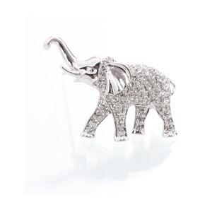 Broszka ze Swarovski Elements, słoń