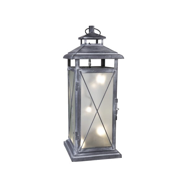 LED lampion Stallis 45 cm, szary
