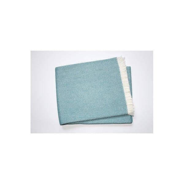 Lekki koc Skyline Ocean Blue, 140x180 cm