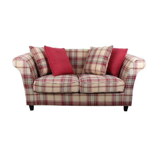Sofa dla dwojga Red Chequer