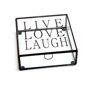 Pudełko Cristal Live Love Laugh