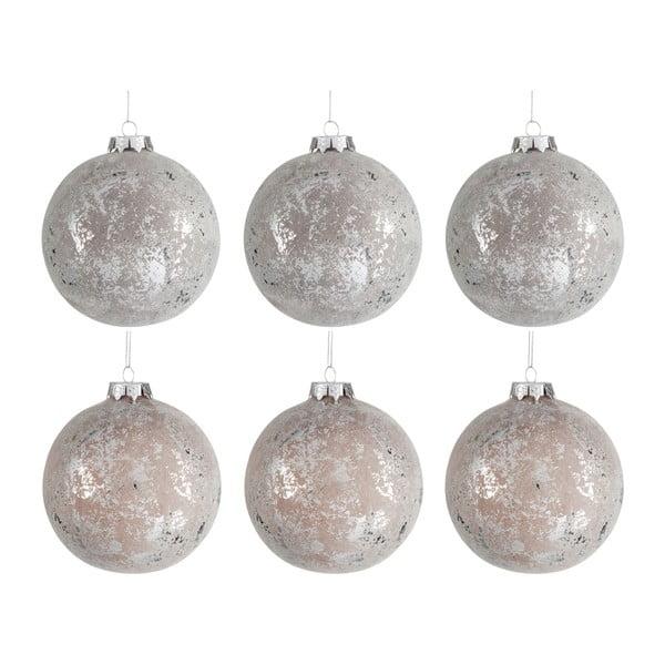 Zestaw 6 świątecznych ozdób Bauble, Ø10 cm