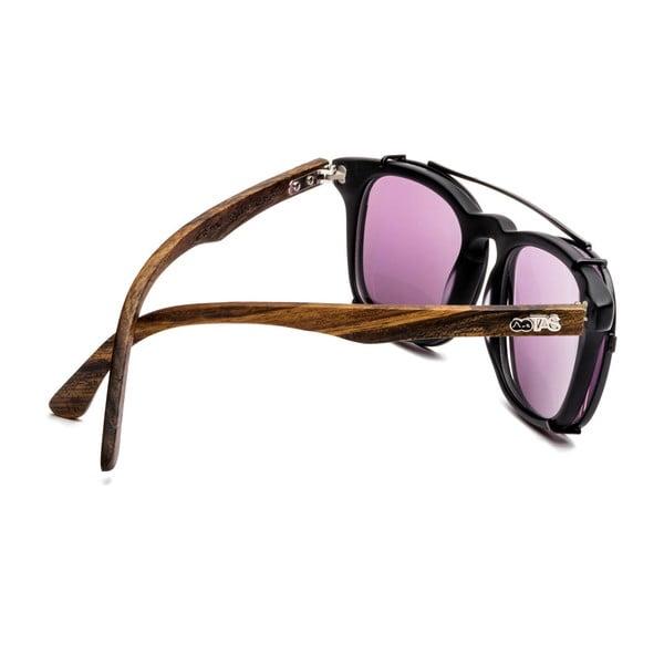 Okulary przeciwsłoneczne i korekcyjne w jednym Hagen, fioletowo-brązowe