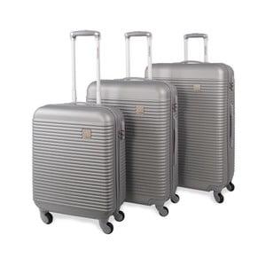 Zestaw 3 srebrnych walizek Jaslen