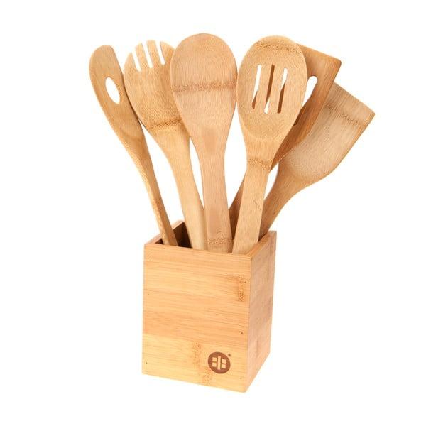 Stojak i 6 akcesoriów kuchennych Bamboo