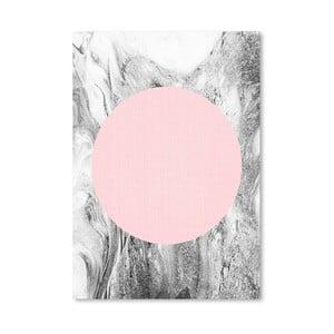 Plakat Geometric Pink Grey