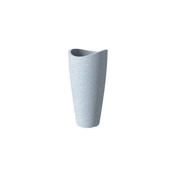 Donica ogrodowa Wave 80x39,5 cm, biała