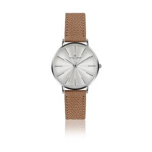 Zegarek damski ze skórzanym paskiem w kolorze koniaku Frederic Graff Silver Monte Rosa Lychee Cognac