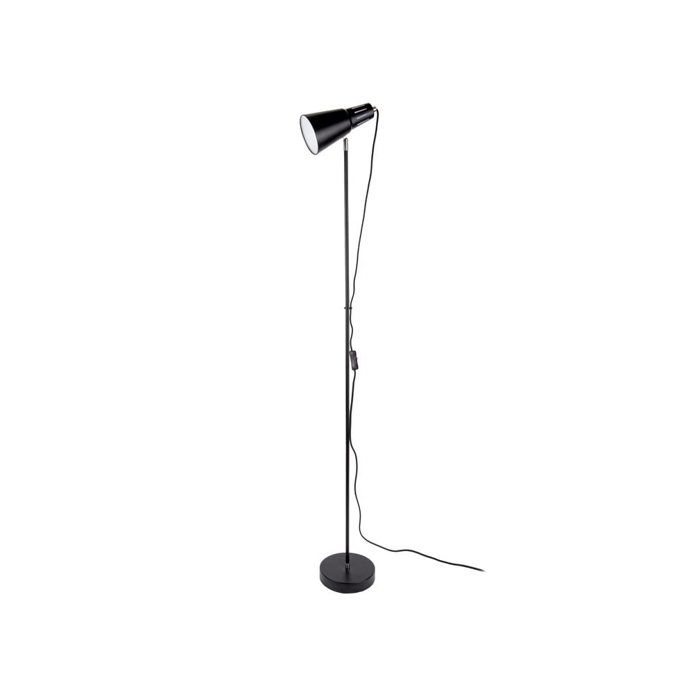 Czarna lampa stojąca Leitmotiv Mini Cone,wys.147,5cm