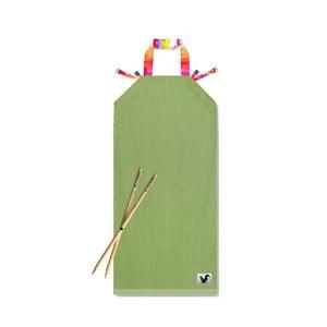 Zielony leżak plażowy Origama Aqua