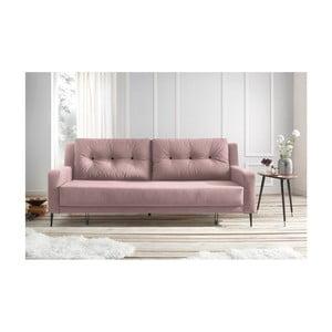 Różowa sofa rozkładana Bobochic Paris Bergen