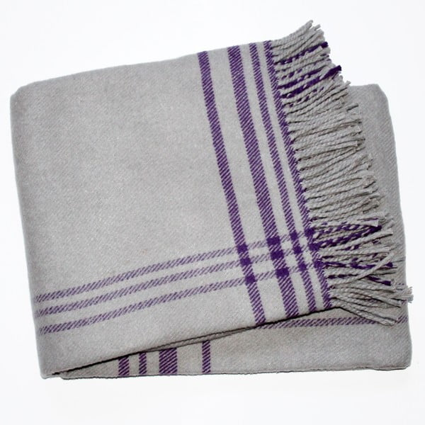 Koc Elva Grey Purple, 140x180 cm